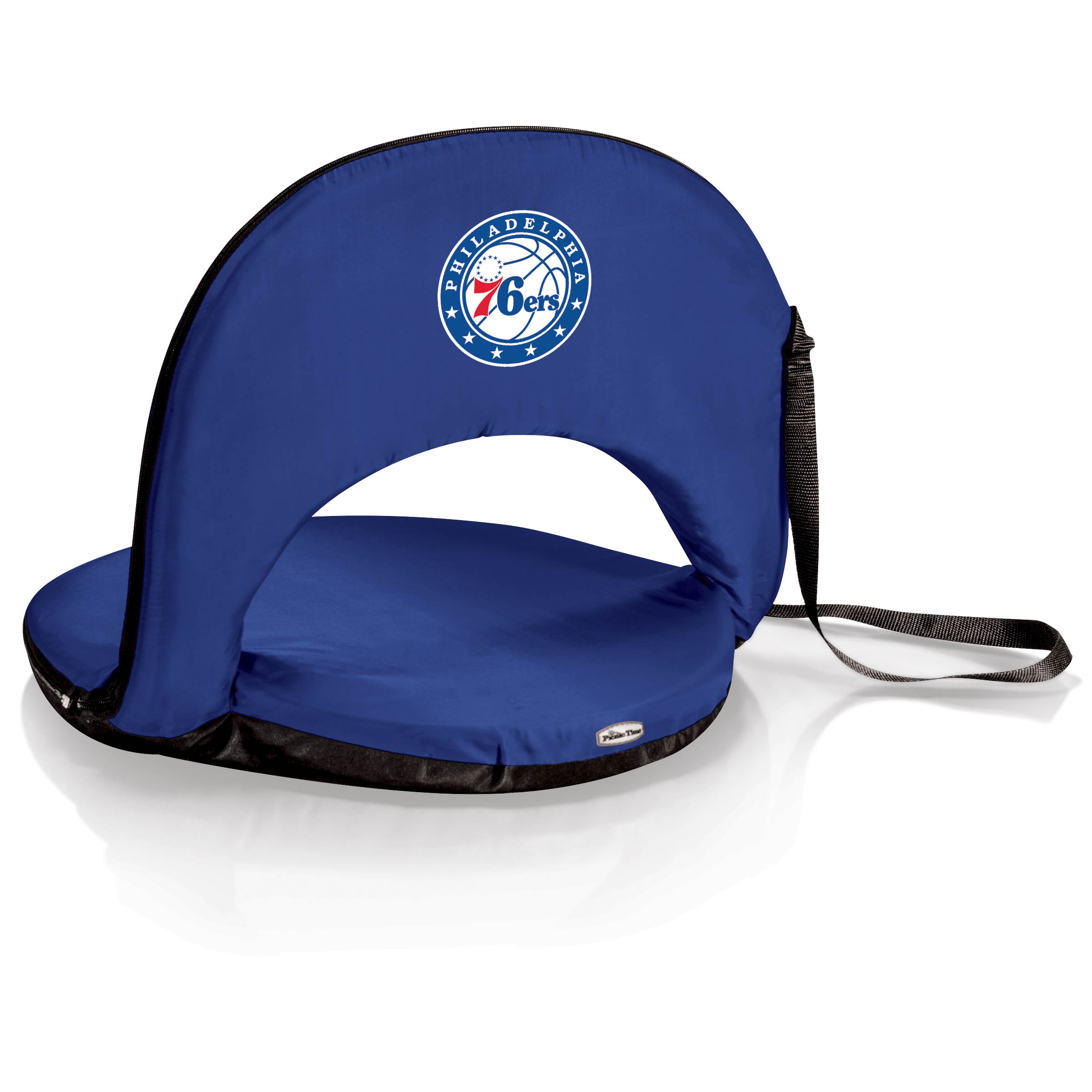 Philadelphia 76ers Navy Oniva Seat Portable Recliner Chair By Picnic Time Wells Fargo Center Official