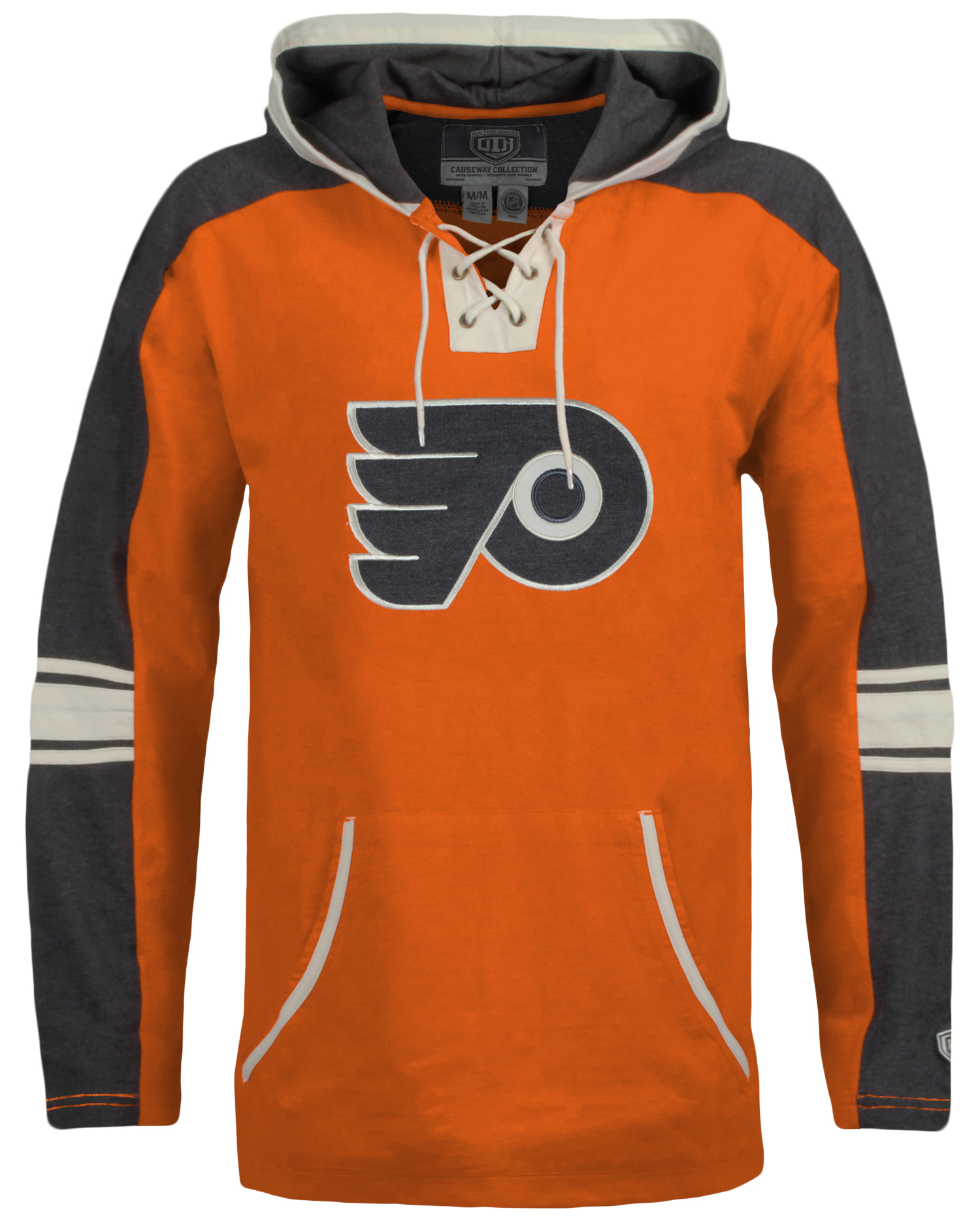 Philadelphia Flyers Men s Cable Hoodie by Old Time Hockey - Wells ... 03263cc7c