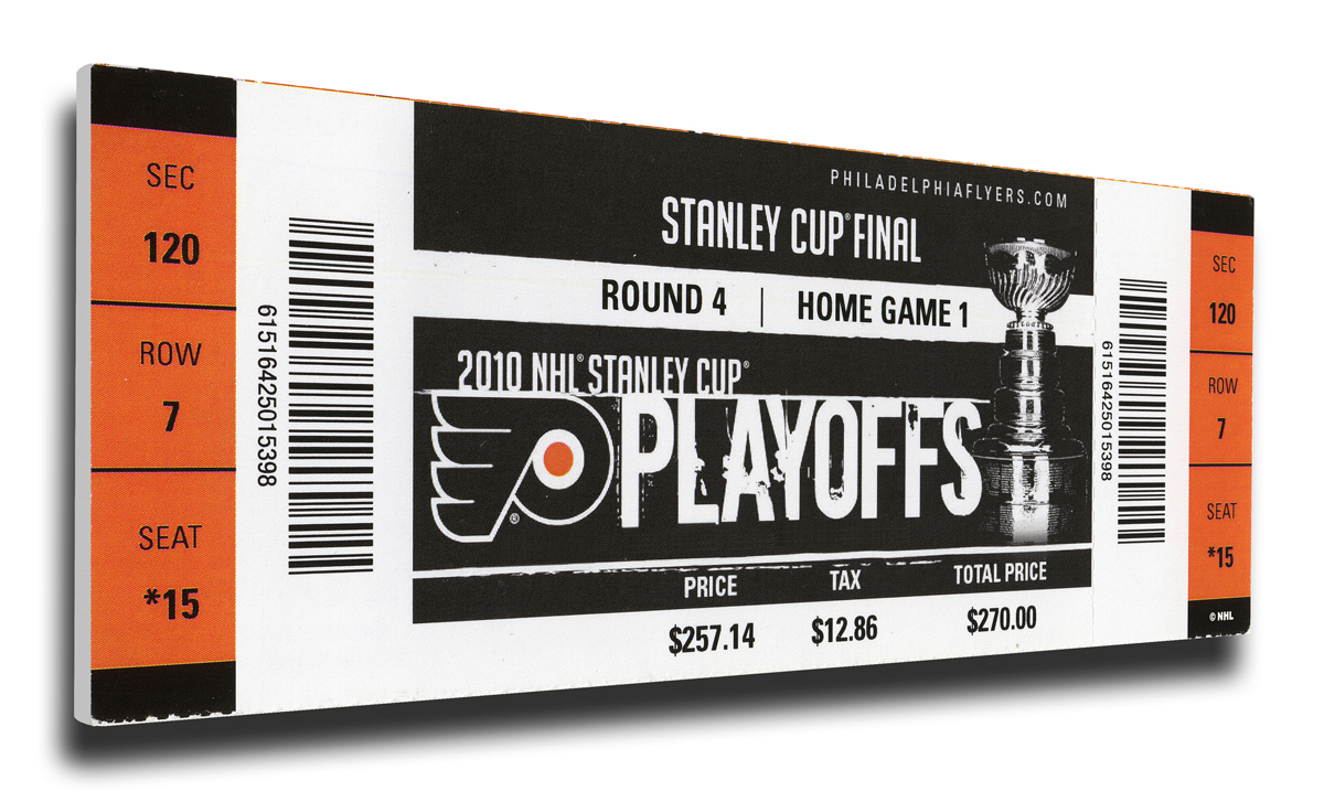 Philadelphia Flyers 2010 NHL Stanley Cup Final Canvas Mega Ticket by That s  My Ticket 845f1e01a