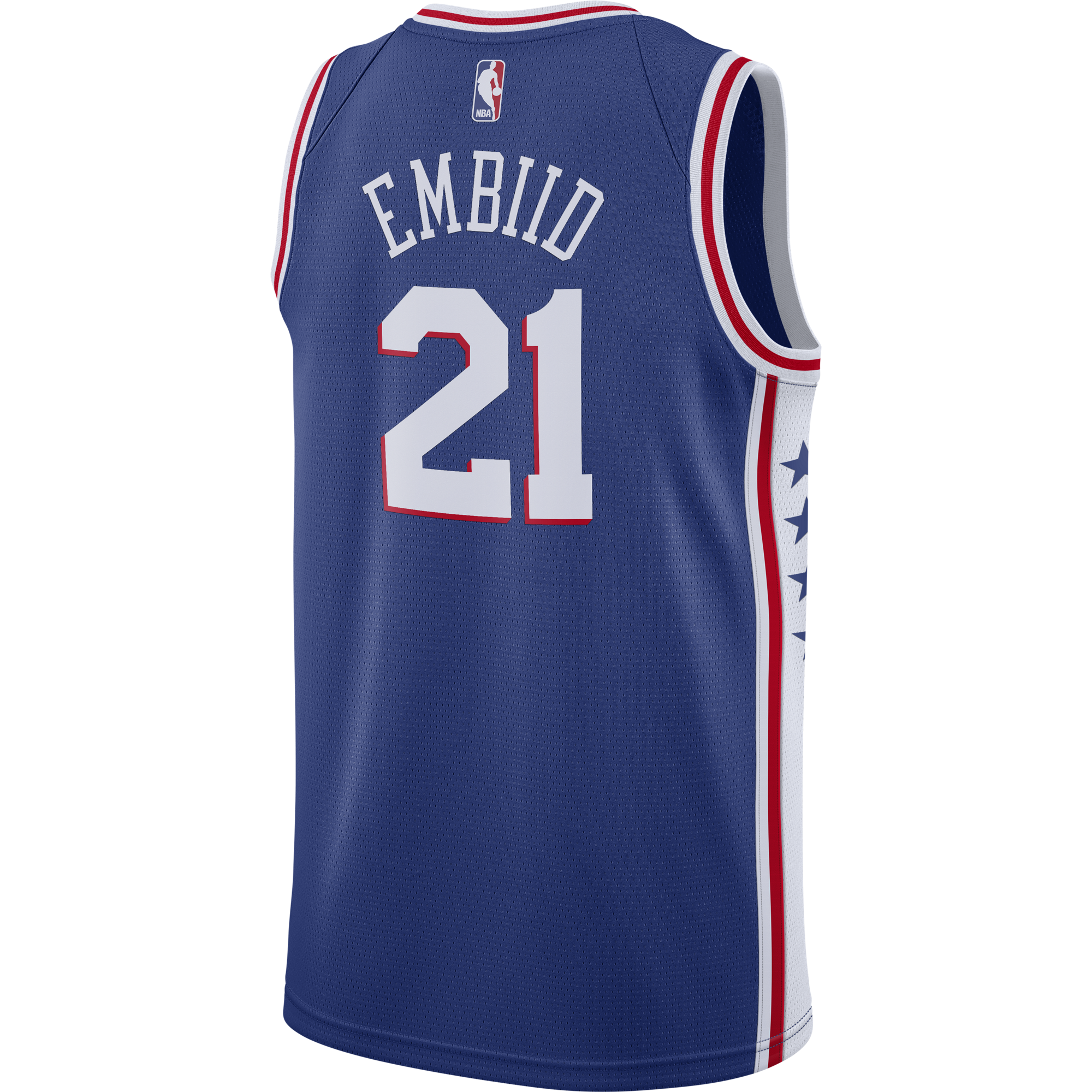 00894f81ce42 Philadelphia 76ers Men s Blue Joel Embiid Swingman Jersey by Nike ...