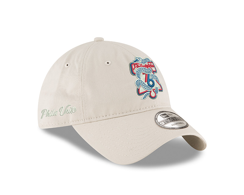 e13c5e9a441 Philadelphia 76ers Men s Tan Phila Unite 9Twenty Cap by New Era ...