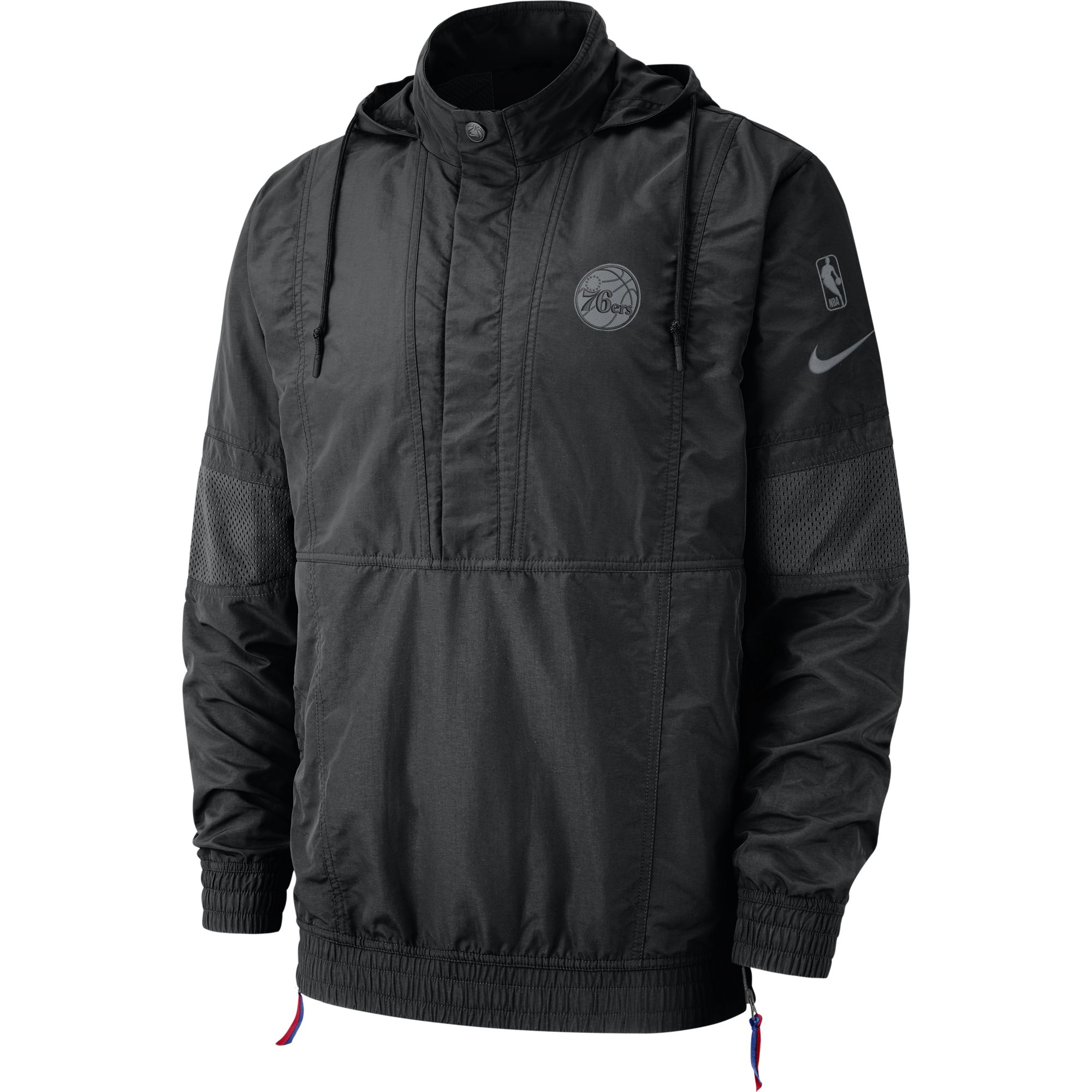 fb073509ce8 Philadelphia 76ers Men's 2018 Courtside Half Zip Jacket by Nike ...