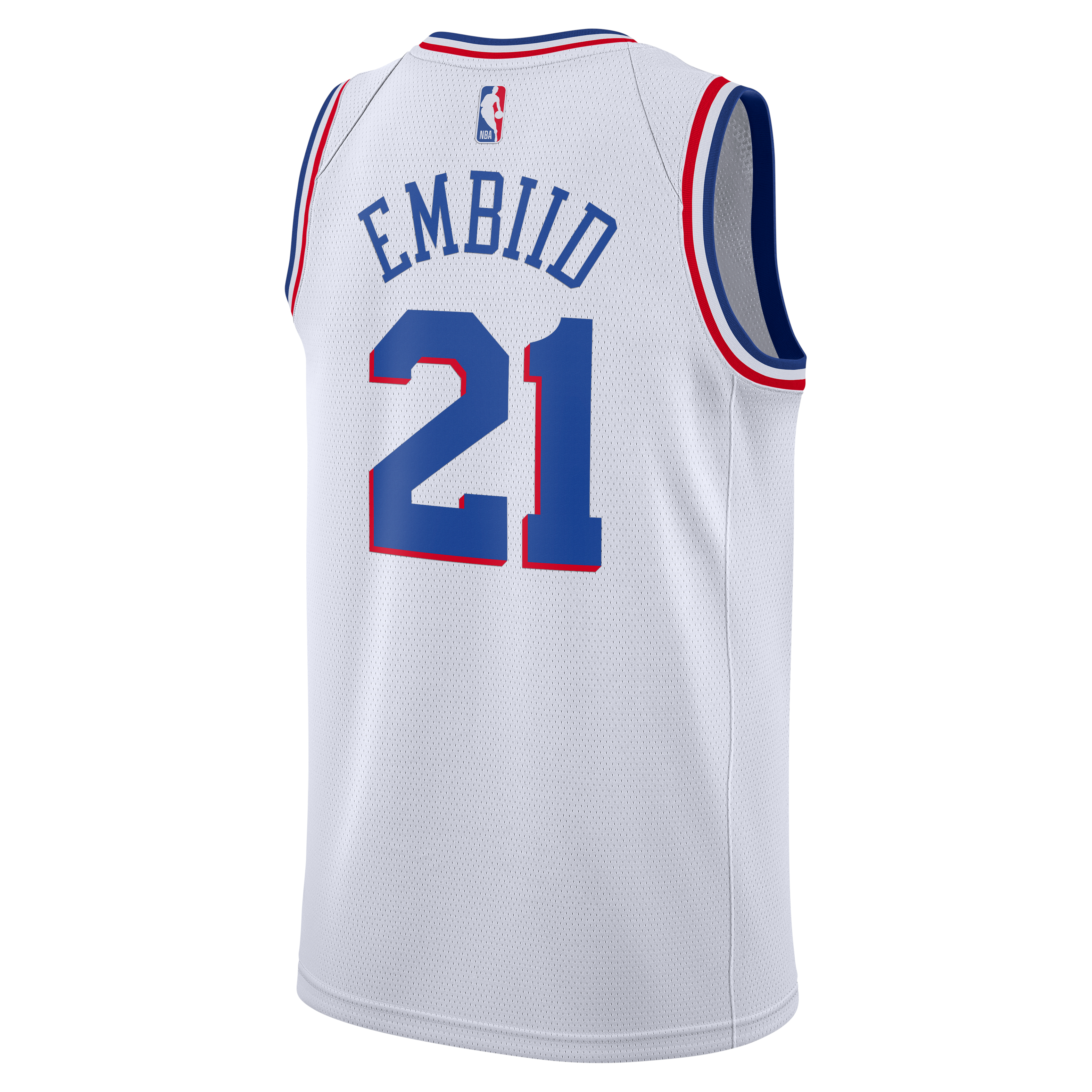 ae96e7ad1 Philadelphia 76ers Men s White Joel Embiid Earned Edition Swingman Jersey  by Nike