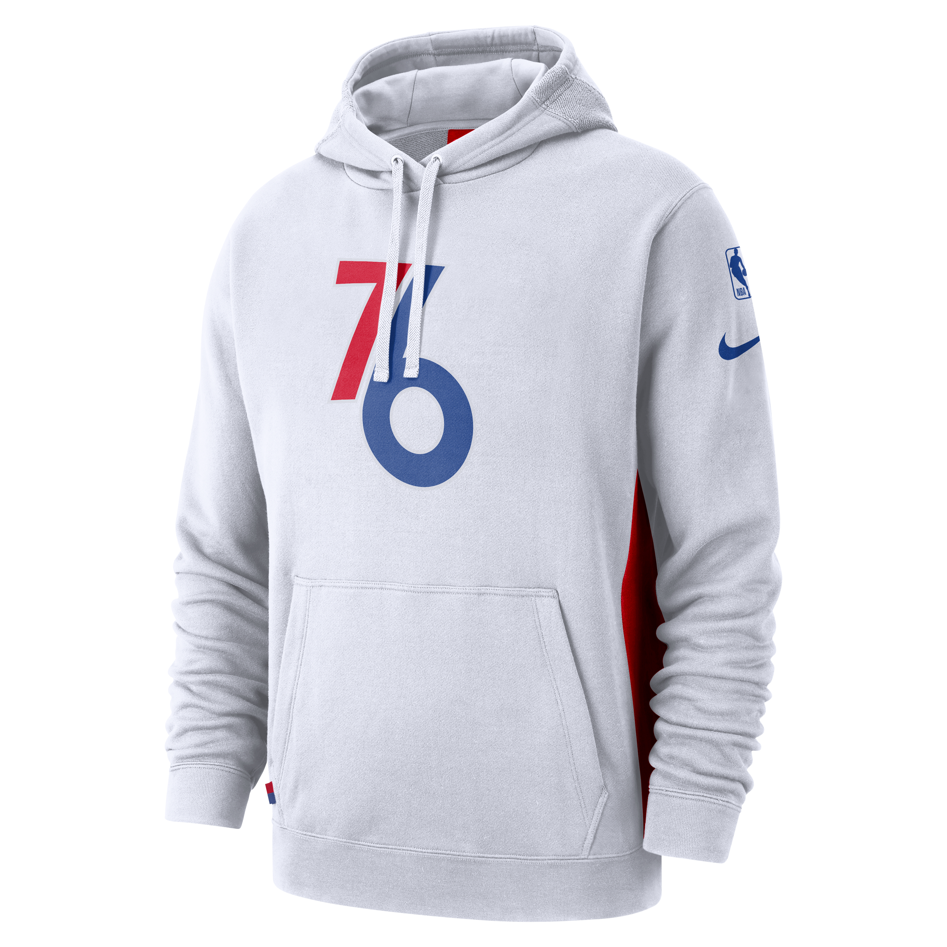 Philadelphia 76ers Men s Striped Lacer Hoodie by  47 Brand - Wells Fargo  Center - Official Online Store ad7e4d144