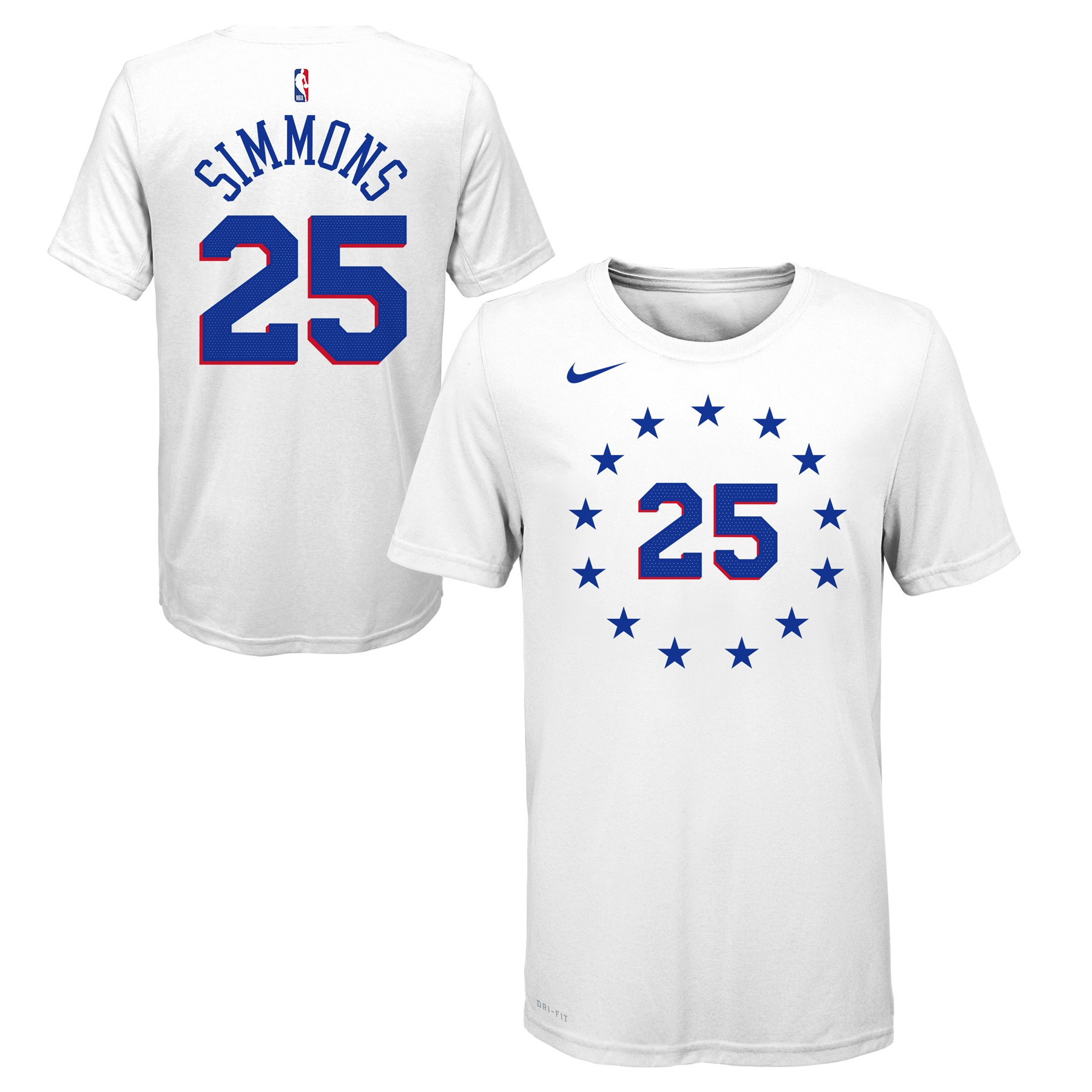 8ca4d5466 Philadelphia 76ers Youth Ben Simmons White Earned Edition Player Tee by Nike