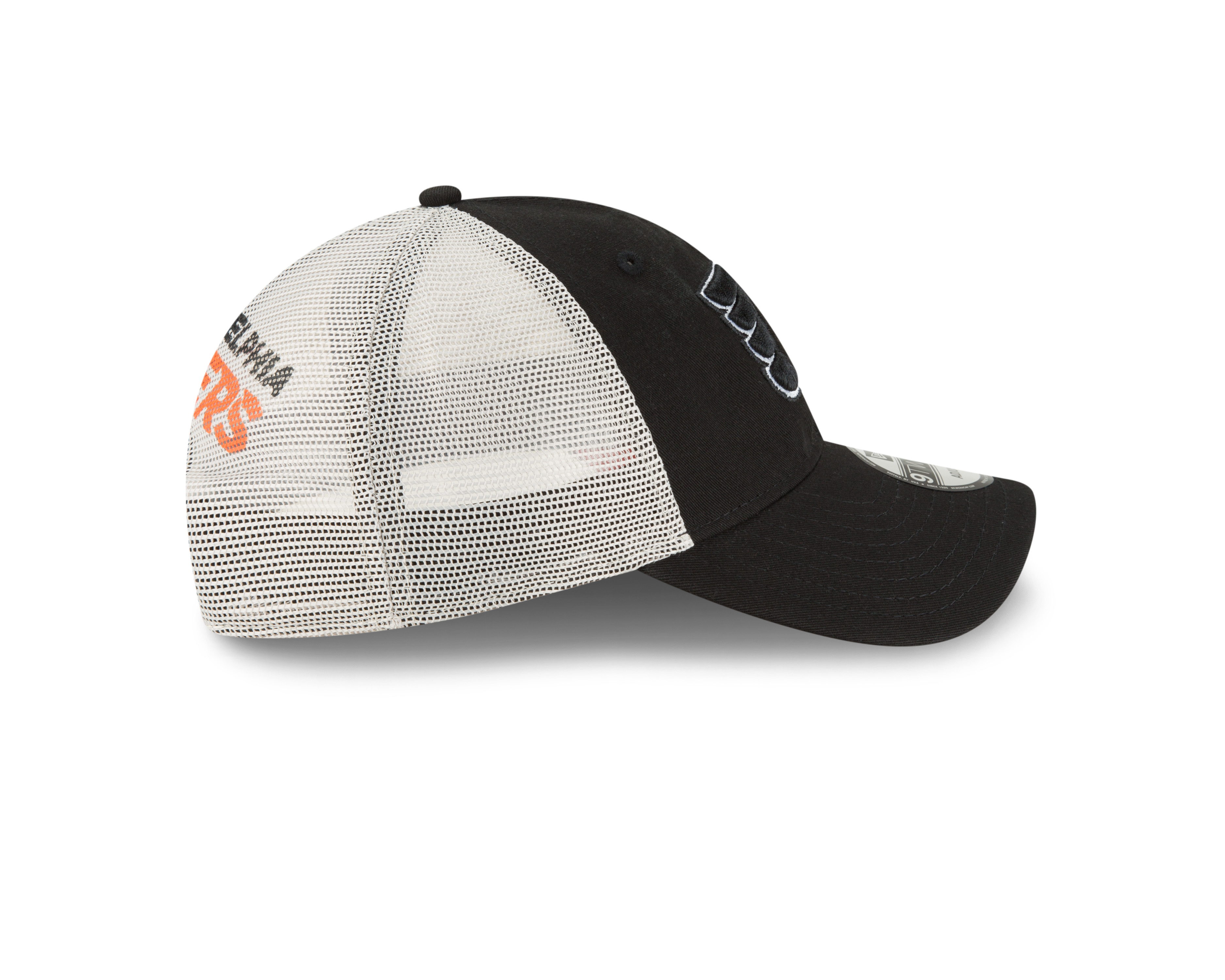 Philadelphia Flyers Men s Black Stated Back 9Twenty Cap by New Era ... 77178fe3a74a