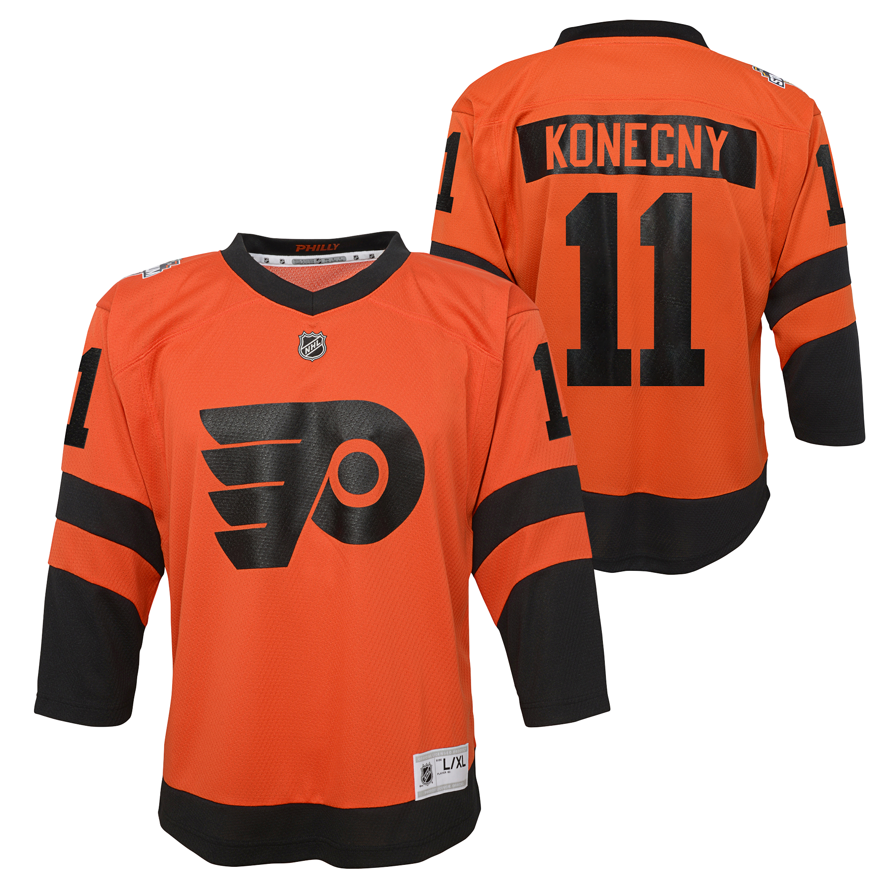 Philadelphia Flyers Youth 2019 Stadium Series Konecny Jersey by Outerstuff e86fda4ab