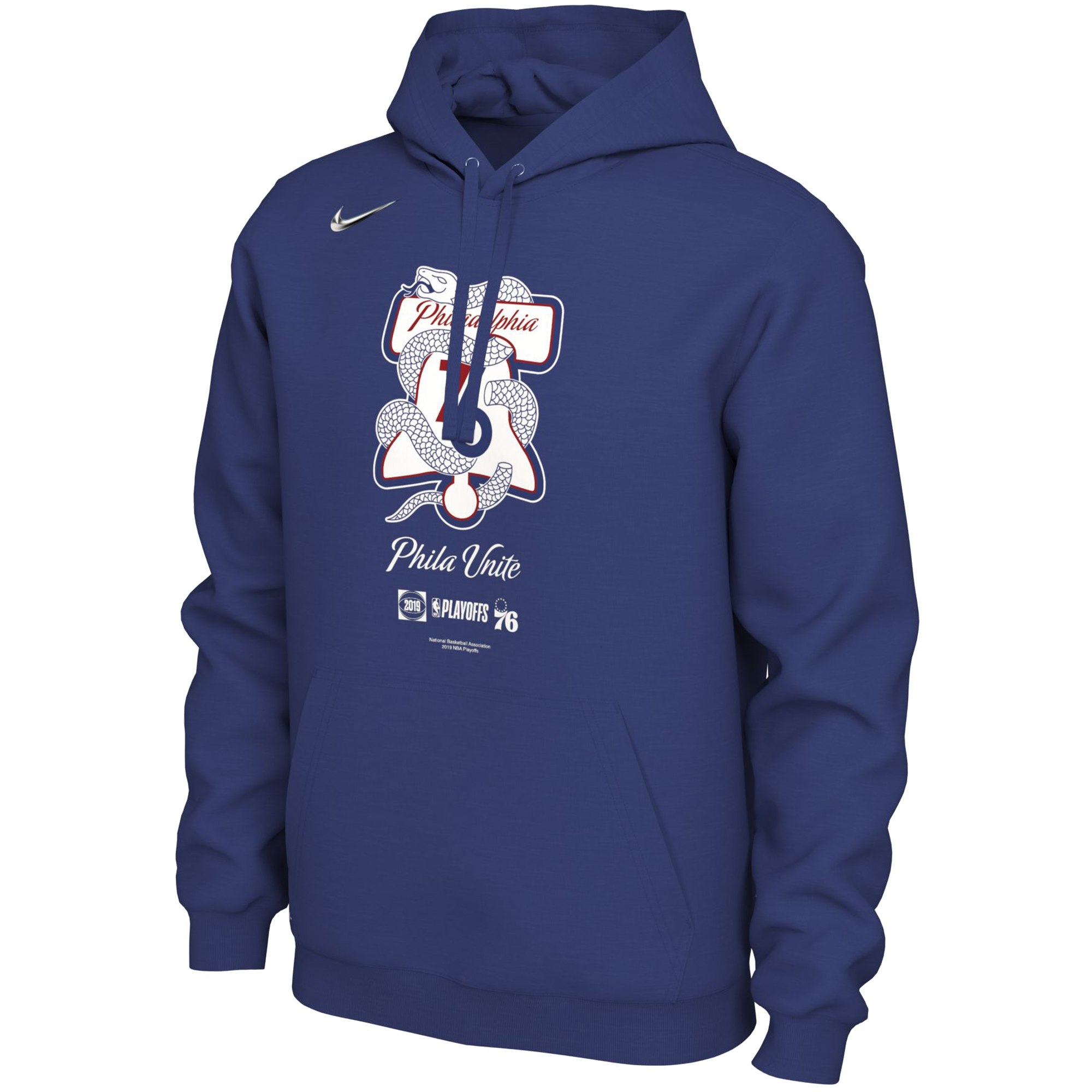 c8827a603 Philadelphia 76ers Men's 2019 NBA Playoffs Mantra Hoodie by Nike ...